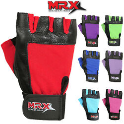 Weight Lifting Gloves Men amp; Women Fitness Gym Training Genuine Leather Brand MRX $7.89