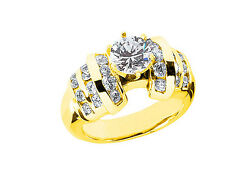 Natural 1.50Ct Round Brilliant Cut Diamond Engagement Ring Solid 18k Gold F VS1
