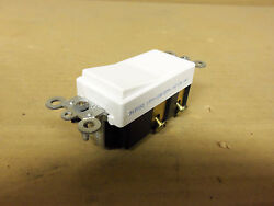 New White Leviton Switch 056042W 15 Amp 120v 277v Decora Switch 4 pole rocker