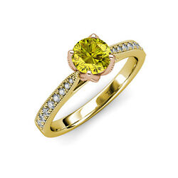 Yellow & White Diamond Engagement Ring 1.16 ct tw in 14K Yellow Gold JP:111551