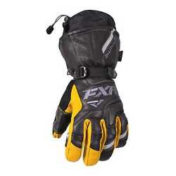 FXR-Snow Tactic Leather Gauntlet InsulatedWater Resistant GlovesBlack3XLXXXL