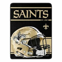 New NFL New Orleans Saints Soft Micro Rasche Large Throw Blanket 46