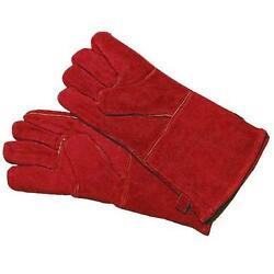 Woodeze 5MM-A-12 Fireplace Gloves 13 1 2 in. Red