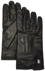 Stefano Ricci Gloves Handmade Leather Cashmere Lined Size 9 Black 13GL0108 $745