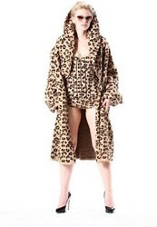 ALAIA VINTAGE 1992 LEOPARD woolviscose JACKET COAT~MUSEUM COLLECTION -ONE SIZE