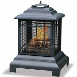 Endless Summer Outdoor Wood Burning Firehouse Fire Pit with Cover  WAF501CS