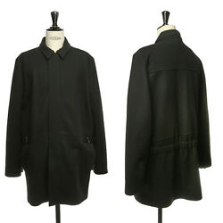 new Y PROJECT YOHAN SERFATY black wool latch felted parka coat jacket FR52 UK42