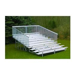 Jaypro Sports BLCH-1021ASGR 10 Row 21 ft. with Guard Rail and Aisle