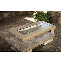 OutdoorGreatroom UPT-1242-BRN Uptown Crystal Fire Pit Table  Brown