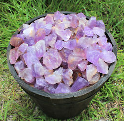 12 lb Bulk Lot Rough Natural Amethyst (Brazil) Premium Grade Rock Tumbling 8 oz