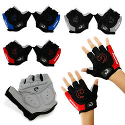 Sports Racing Cycling Motorcycle MTB Bike Bicycle Gel Half Finger Gloves M L XL $5.99