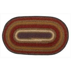 Homespice Decor 406040 Log Cabin Step Cotton Braided Rugs Oval