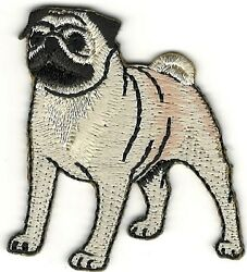 2quot; Realistic Pug Dog Breed Canine Embroidery Patch $2.99