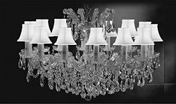 Maria Theresa Crystal Lighting Chandelier Pendant W White Shades H  21