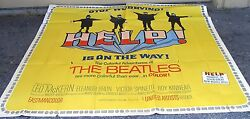 Beatles HELP! Original 6 Sheet Movie Poster...HUGE!  81 X 81 inches.  1965
