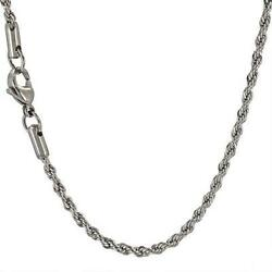Stainless Steel - 16 inch 2mm High Polish Finish Rope Chain (FC010L16)