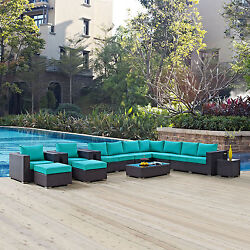 Gather 11-piece Outdoor Patio Sectional Set