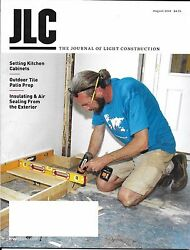 Journal of Light Construction magazine Kitchen cabinets Outdoor tile Insulation