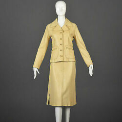 XS Vintage 1970s 70s North Beach Leather Custom Numbered Skirt Suit Separates $918.00
