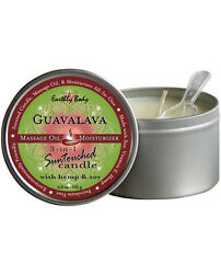 3 IN 1 GUAVALAVA SUNTOUCHED CANDLE WITH HEMP 6.8 OZ MASSAGE OIL EROTIC EXOTIC