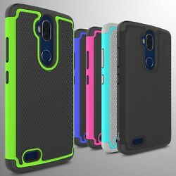 For ZTE Blade Max 3  Max Blue Case Tough Protective Hard Hybrid Phone Cover