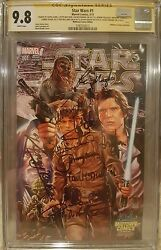 Star Wars #1 Midtown__CGC 9.8 SS__Signed by Ford Hamill Fisher Baker + 6 more