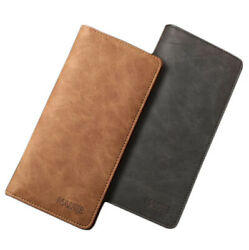 Men#x27;s Leather Bifold Credit ID Card Holder Suit Wallet Purse Checkbook Clutch $8.99