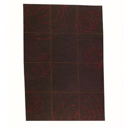 M.A.Trading Hand-knotted Rose Brown Floral Wool Rug (5'6 x 7'10)