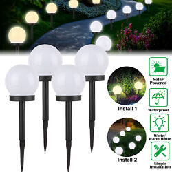 Outdoor LED Solar Ball Light Garden Yard Patio Ground Lawn Lamp Decor Waterproof