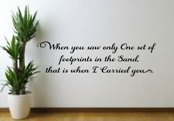 Footprints in the Sand ... Vinyl decal for Family Room Wall Bedroom Living $12.99