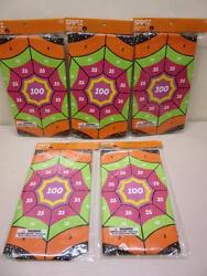 Lot of 5 Web Splat Game Halloween Party Spritz Spider Web Wall Target Spiders $12.99