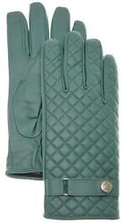 Stefano Ricci Gloves Quilted Leather Cashmere Lined Size 9 Green 13GL0119 $745