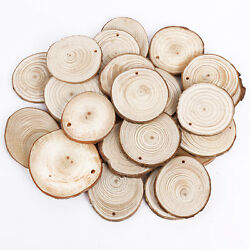 Wooden Wood Log Slices Natural Tree Bark Round Shape Tableware Decor Wedding