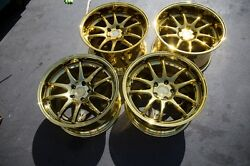 18x9.510.5 Aodhan DS02 5x114.3 +2215 Gold Rims Fits 350Z G35 Coupe (Used)