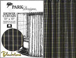 Blackstone Shower Curtain by Park Designs 72x72 Plaid Pick One or Set 359-45