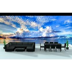 Urban Furnishing Black Series 16-piece Outdoor Dining and Sofa Sectional Patio