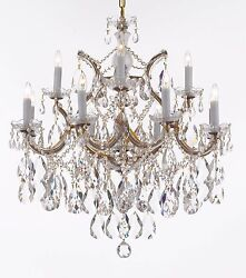 Made with Swarovski Crystal Maria Theresa Chandelier Lights Fixture Pendant $597.00