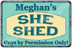 Meghan's SHE SHED Vintage Look Sign 8x12 Chic Woman Metal Wall Décor 8128208