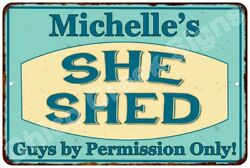 Michelle's SHE SHED Vintage Look Sign 8x12 Chic Woman Metal Wall Décor 8127789
