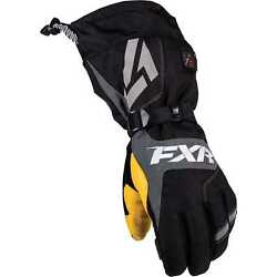 New FXR-Snow Heated Recon Adult InsulatedWaterproof Gloves Black LargeLG