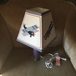 Airplane Lamp Will Match a Plane Themed Bedroom Kids Room Quilt $44.10