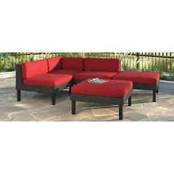 CorLiving Oakland 5pc Sectional with Chaise Lounge Patio Set