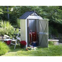 Arrow Designer Hot Dipped Galvanized Steel Shed (4' x 4')