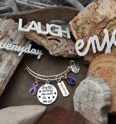 LP-1 Stomach Esophageal Cancer Awareness Bracelet She Believed She Could So She