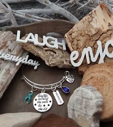 TE-1 Ovarian Cervical Cancer PCOS Bracelet She Believed She Could So She Did