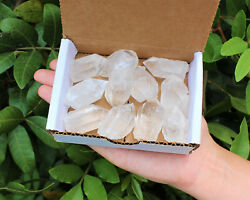 Clear Quartz Points Crystal Collection 1 2 Lb 8 oz Natural Specimens in Box $16.95