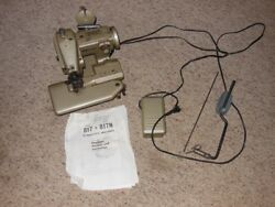 Consew Center 817 blindstitch sewing machine nice orig working cond + extras See
