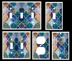 COLORFUL MOROCCAN PATTERN PRINT LIGHT SWITCH COVER PLATE  HOME DECOR  $6.29