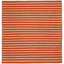 Hand-woven Tailored Paprika Outdoor Rug (8' x 8')