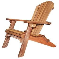 Foldable Western Red Cedar Wood Adirondack Chair Handcrafted Exterior Finish